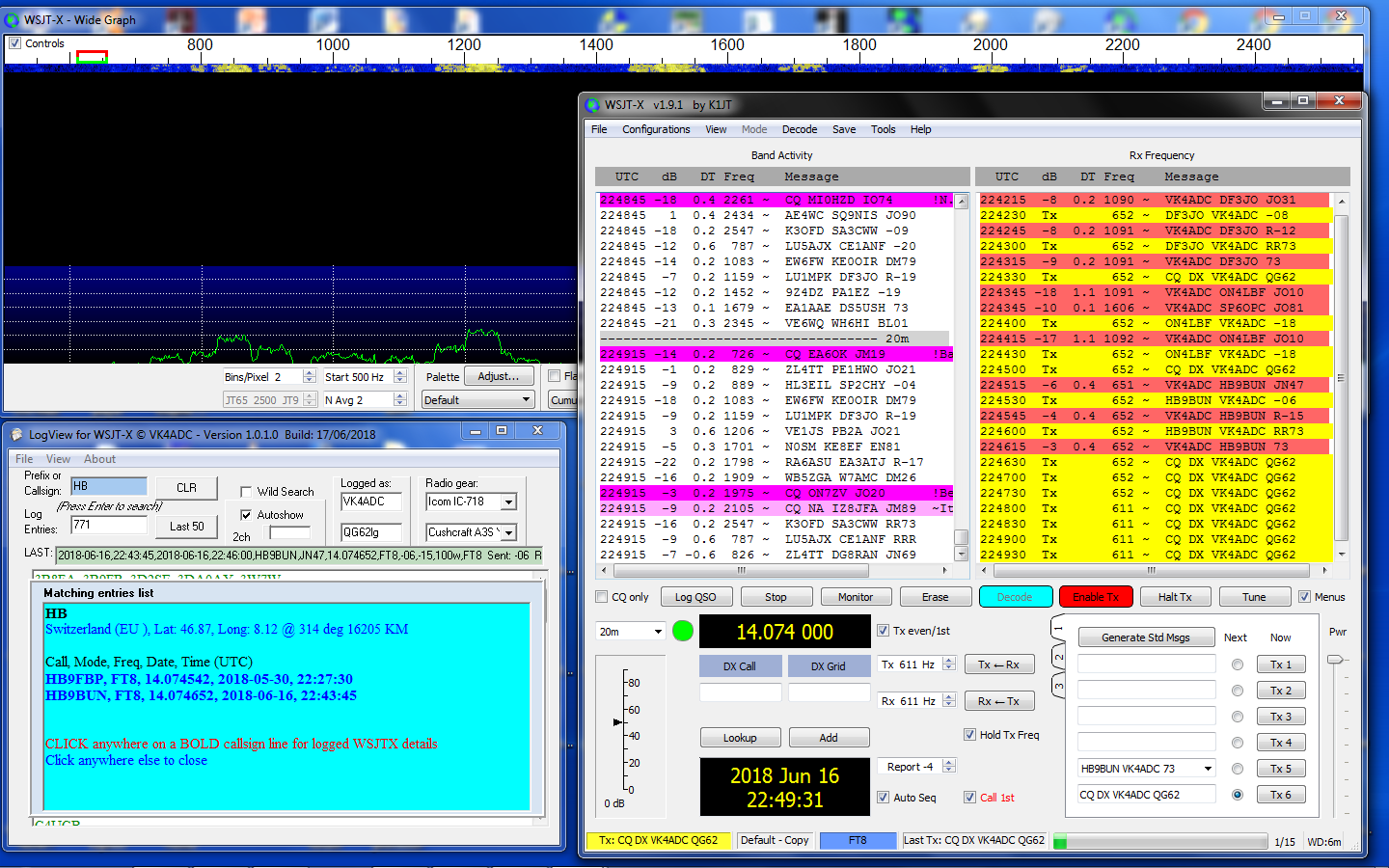 LogView for WSJT-X