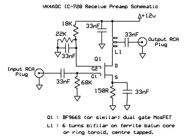 ICOM 720A RF PREAMP